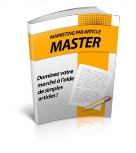 Marketing par article master